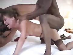 Slutwife gets mouthfucked and bred before sissy