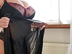 Leanne Crow (Black & Red Lingerie-Solo)